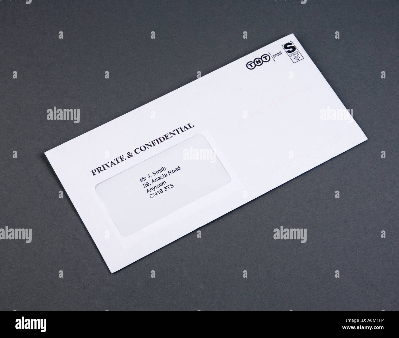 letter marked 'Private & Confidential' - Stock Image