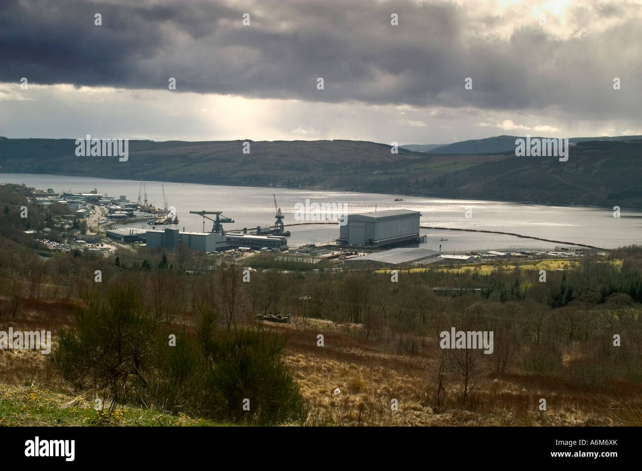Home of the Royal Navy nuclear submarine fleet - Stock Image