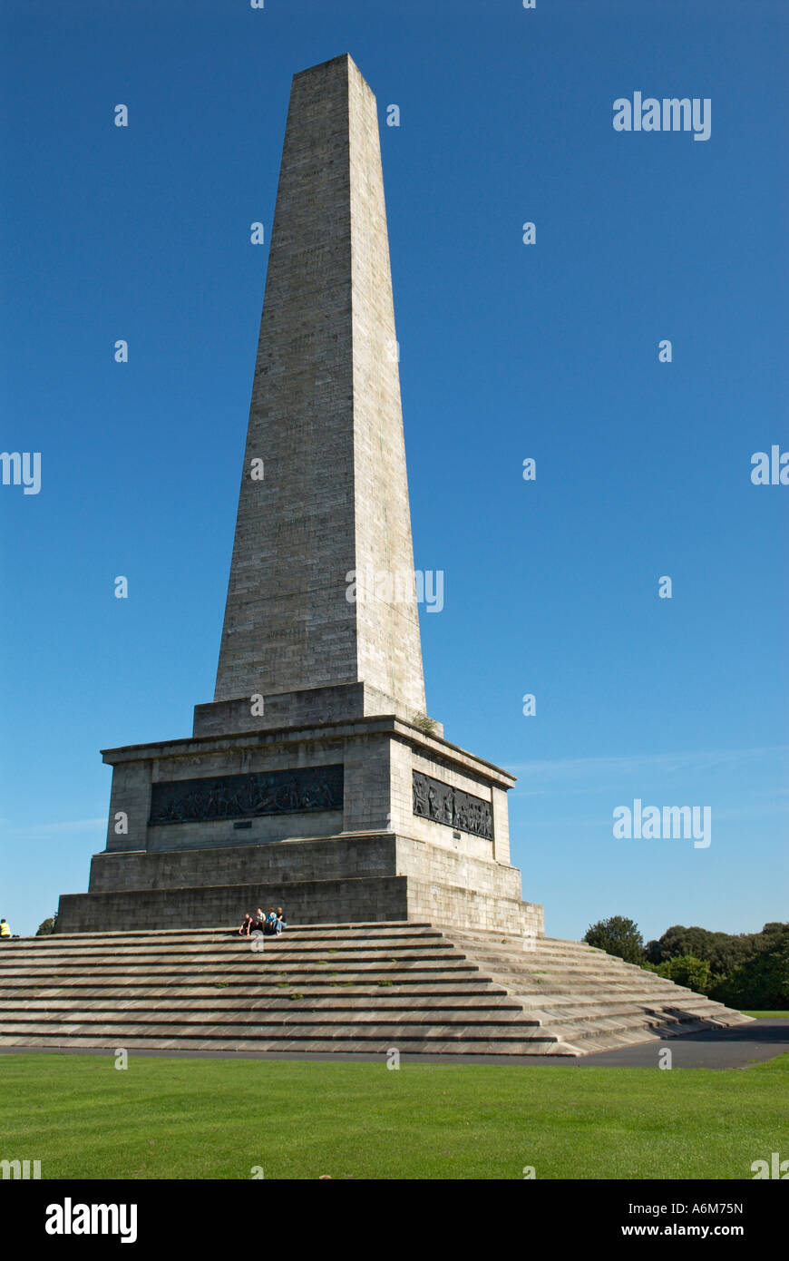 The Duke of Wellington memorial in Phoenix Park Dublin Ireland - Stock Image