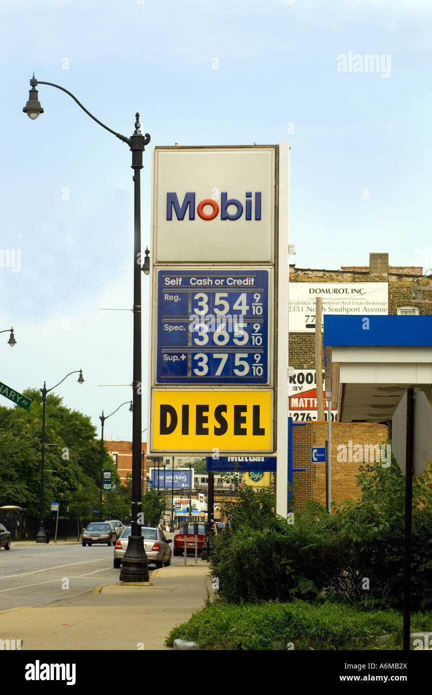 Gas Prices Chicago >> Sign Showing High Prices For Gas In Chicago Gas Station Stock Photo