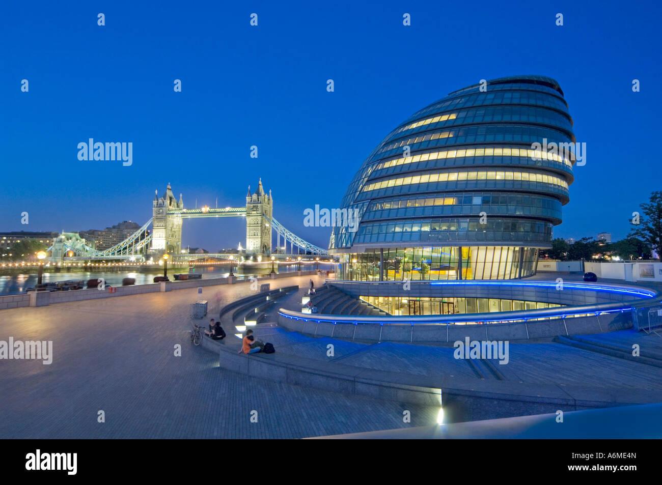 mayor of london modern building london england uk - Stock Image