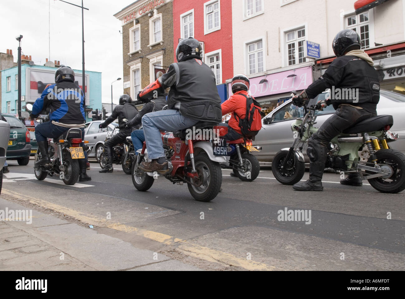 Mini Bike Gang   Stock Image
