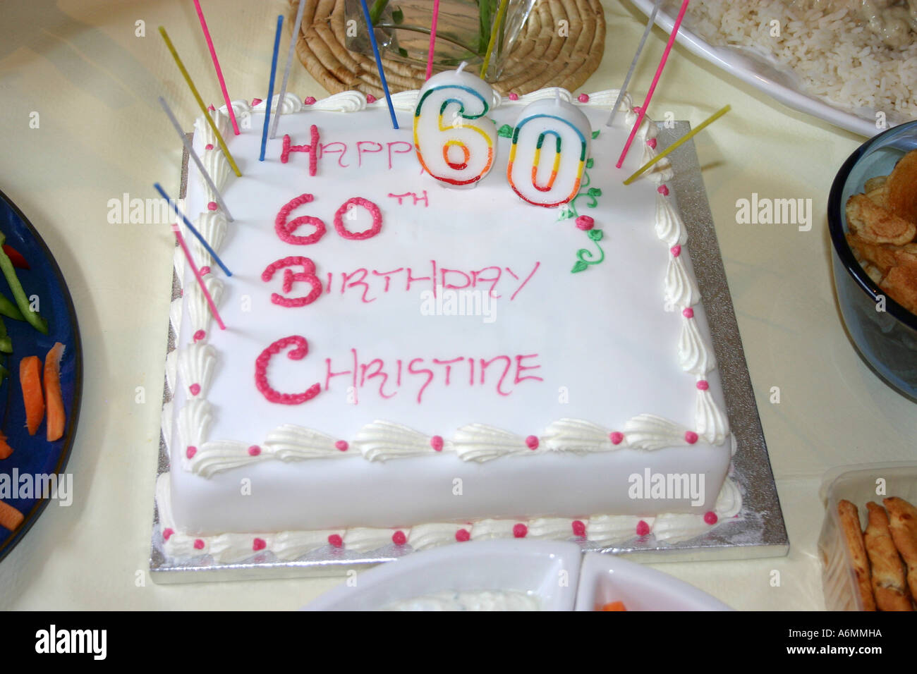 60th Birthday Cake Stock Photos Images