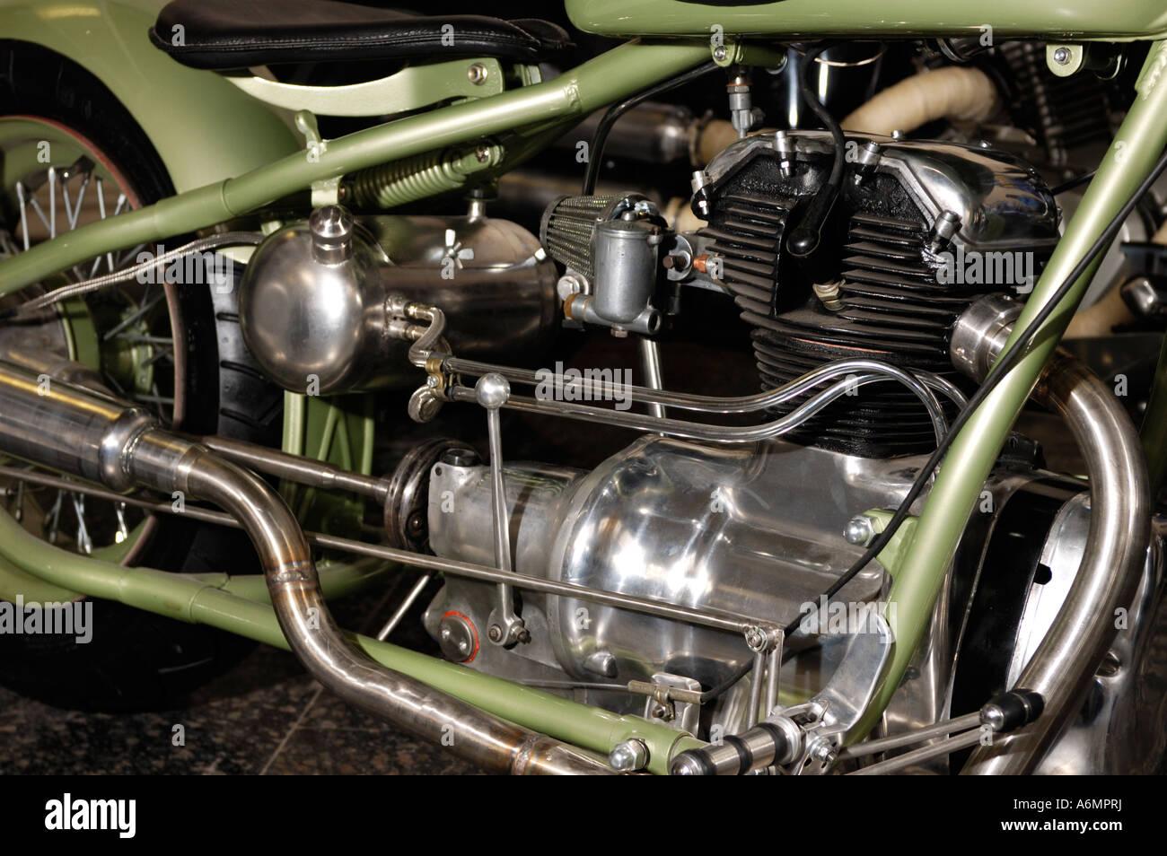 Lowrider motorcycle engine - Stock Image