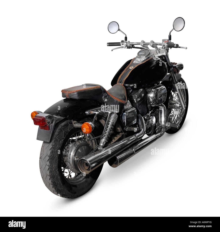 Black Honda Magna motorcycle - Stock Image