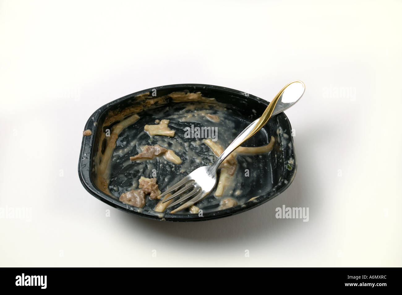 Empty TV dinner - Stock Image