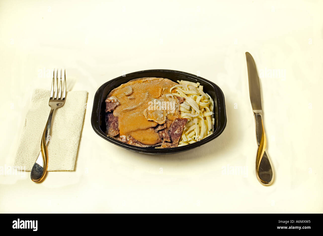 Frozen TV dinner - Stock Image
