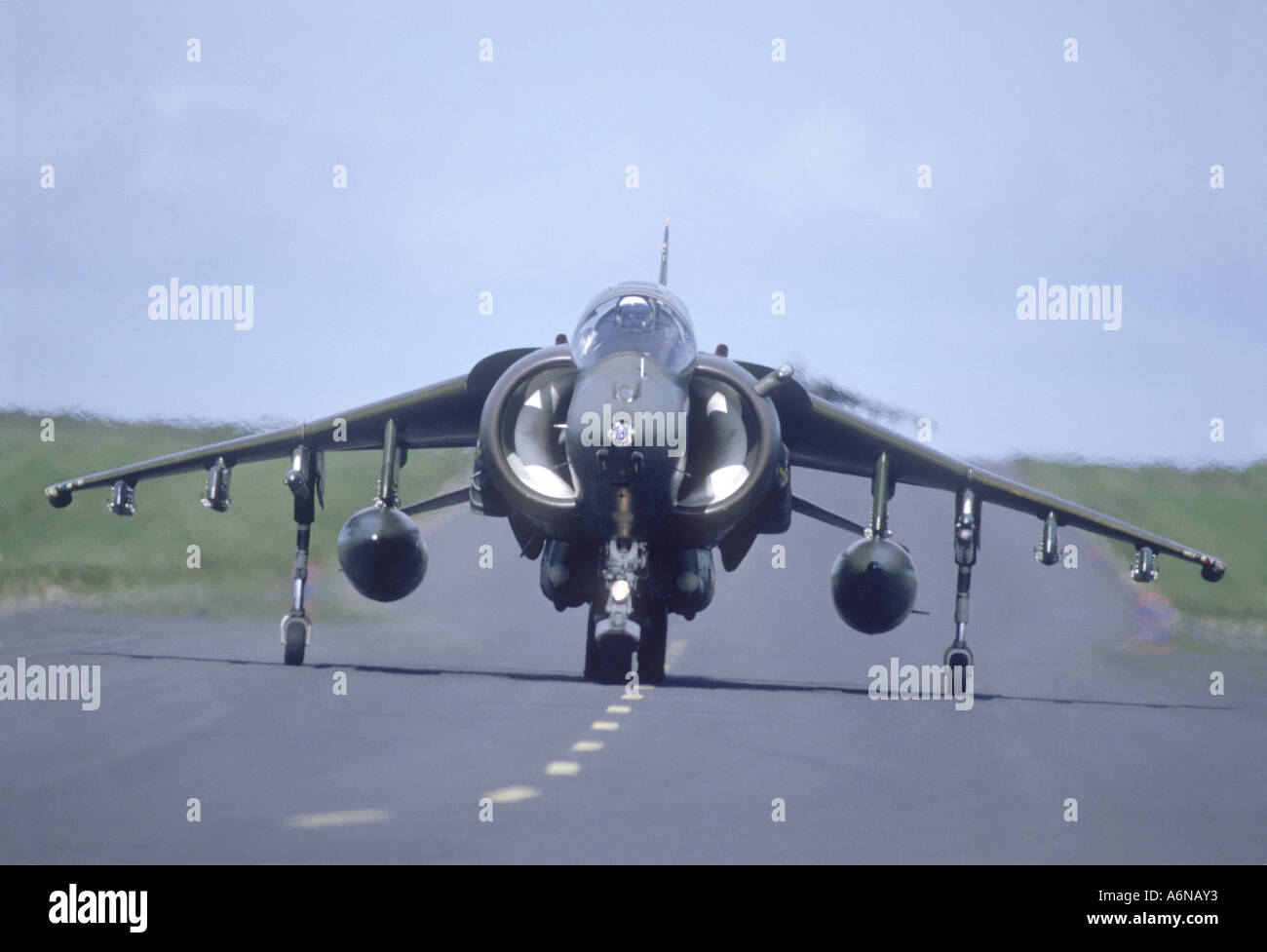 British Aerospace Harrier at RAF Lossiemouth Air Base GAV 2279-237