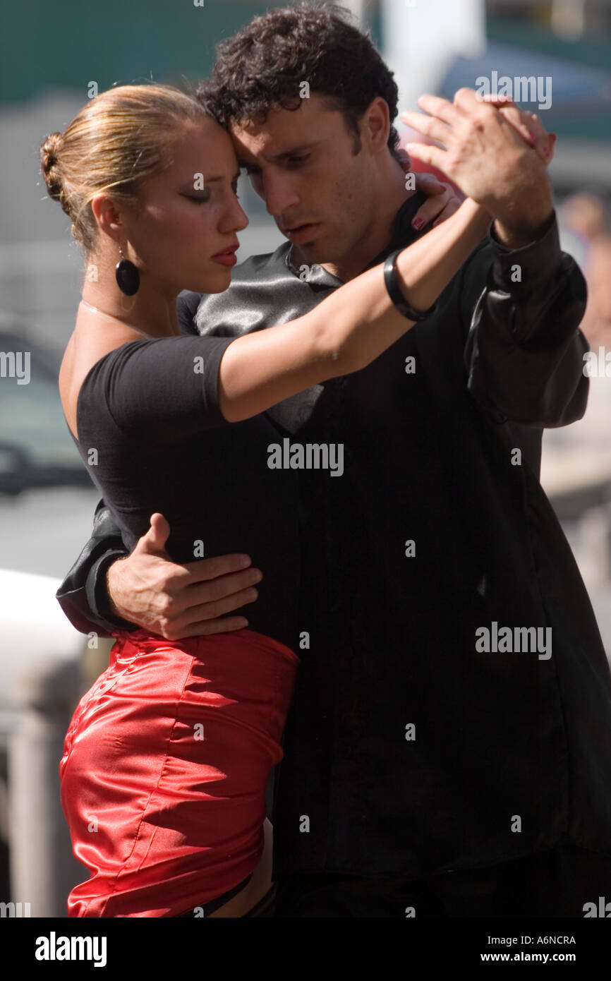 Professional tango dancers in Buenos Aires B Stock Photo