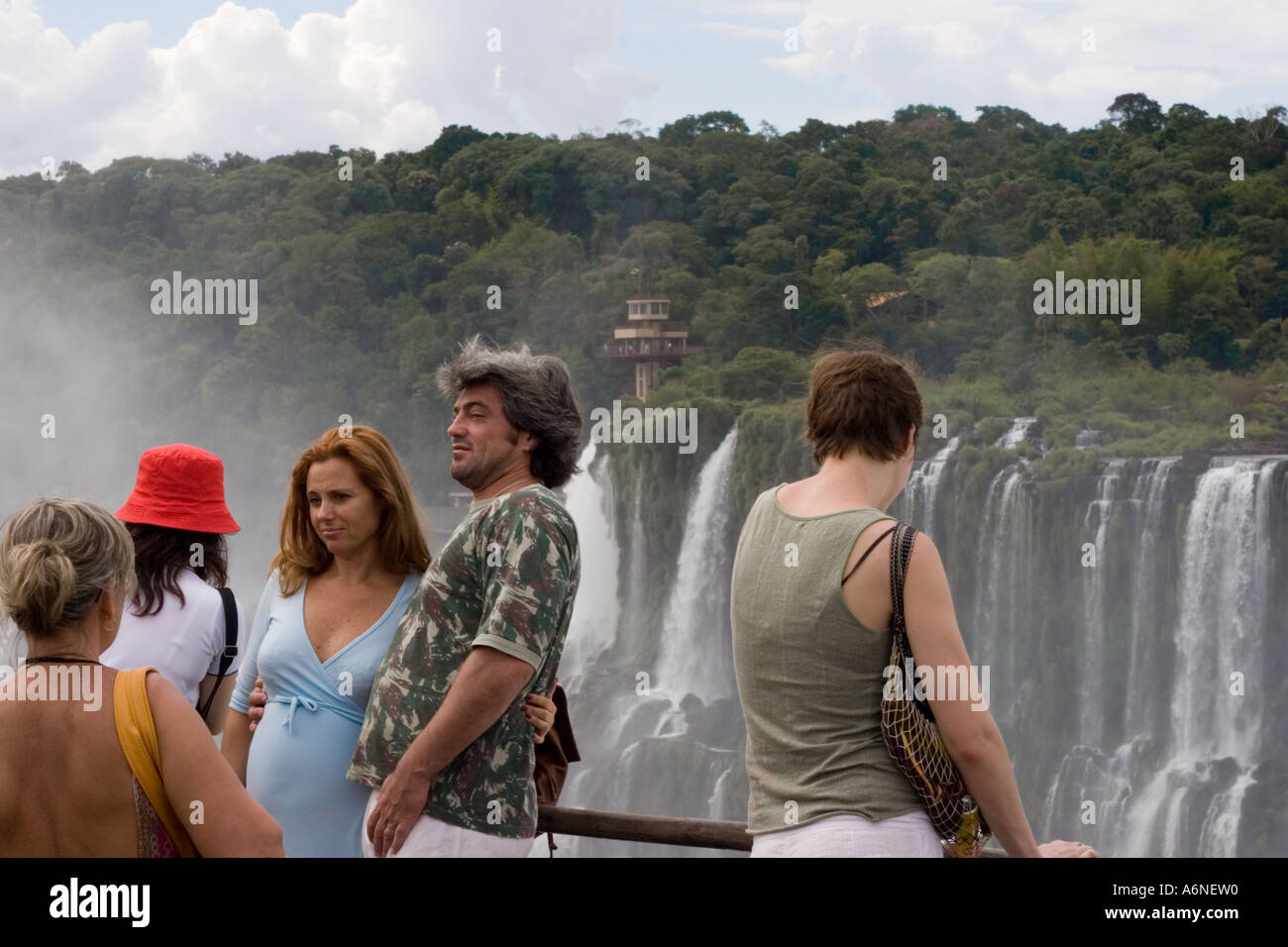 Iguacu tourists Stock Photo