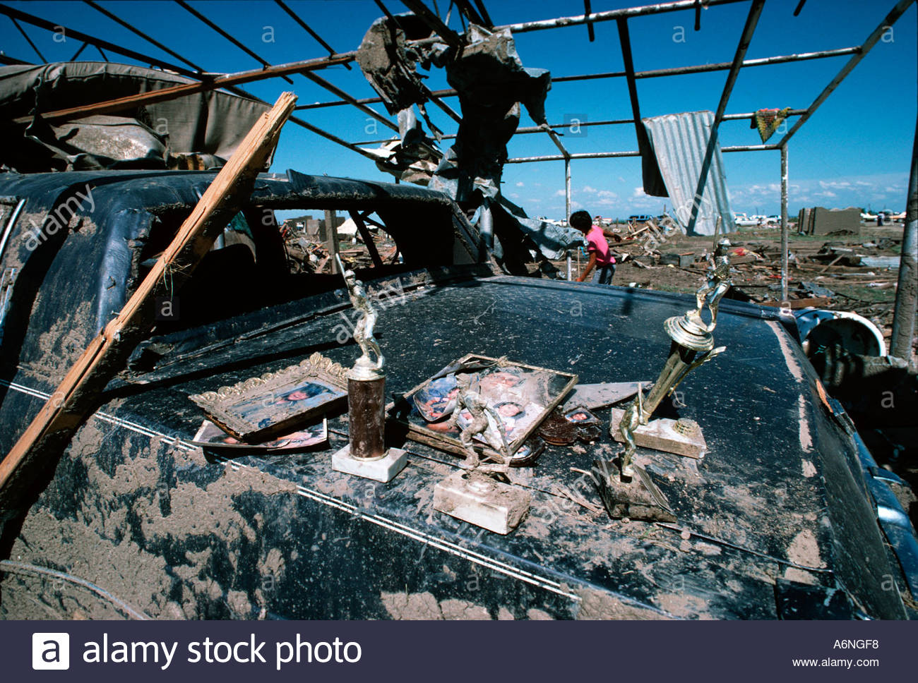 Personal items recovered from the Killer Saragosa   Texas Tornado Disaster May, 22nd 1987 - Stock Image