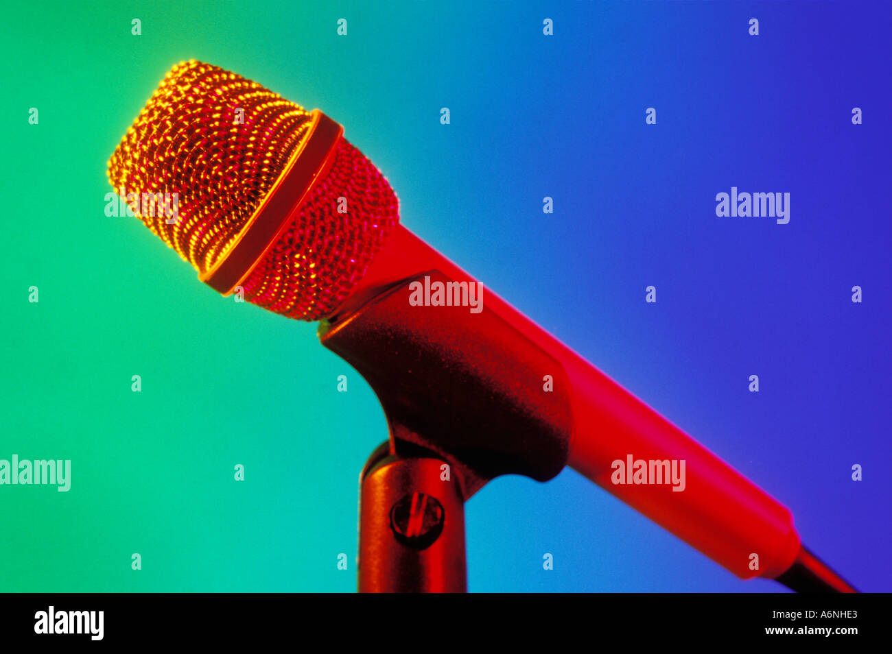 Stage microphone - Stock Image