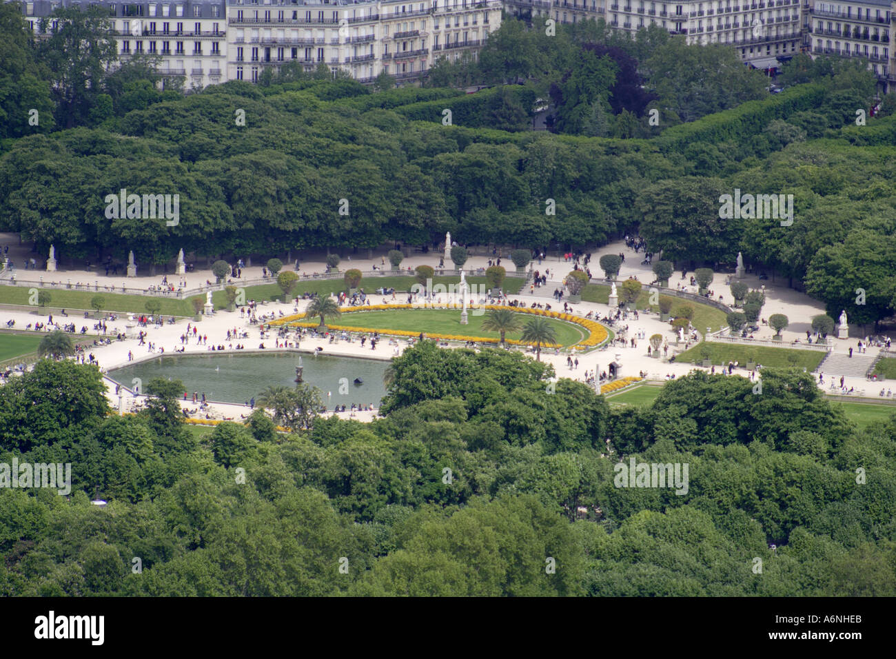Aerial View Of The Jardin Du Luxembourg Paris France Stock Photo