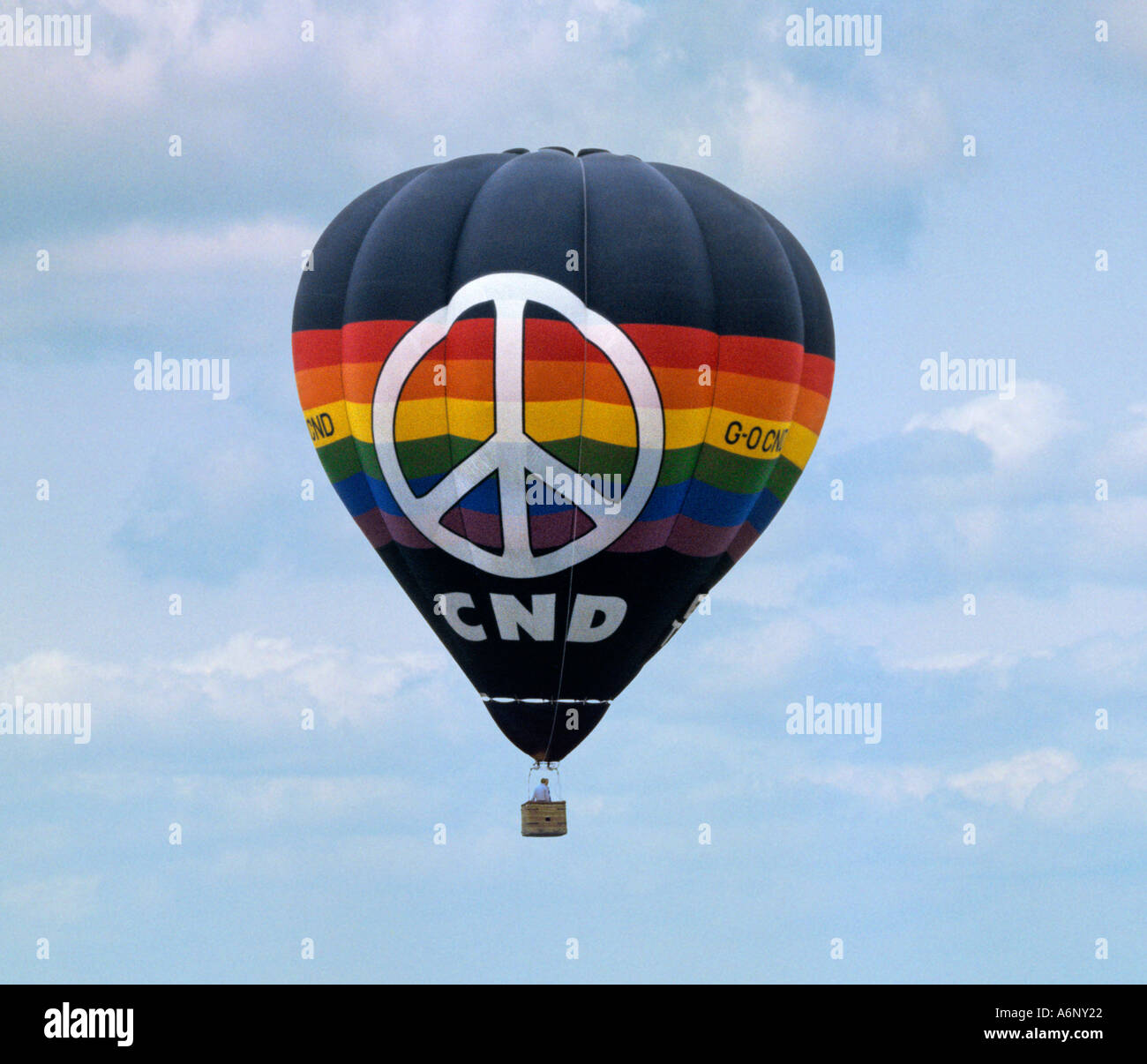 CND Balloon at CND rally - Stock Image