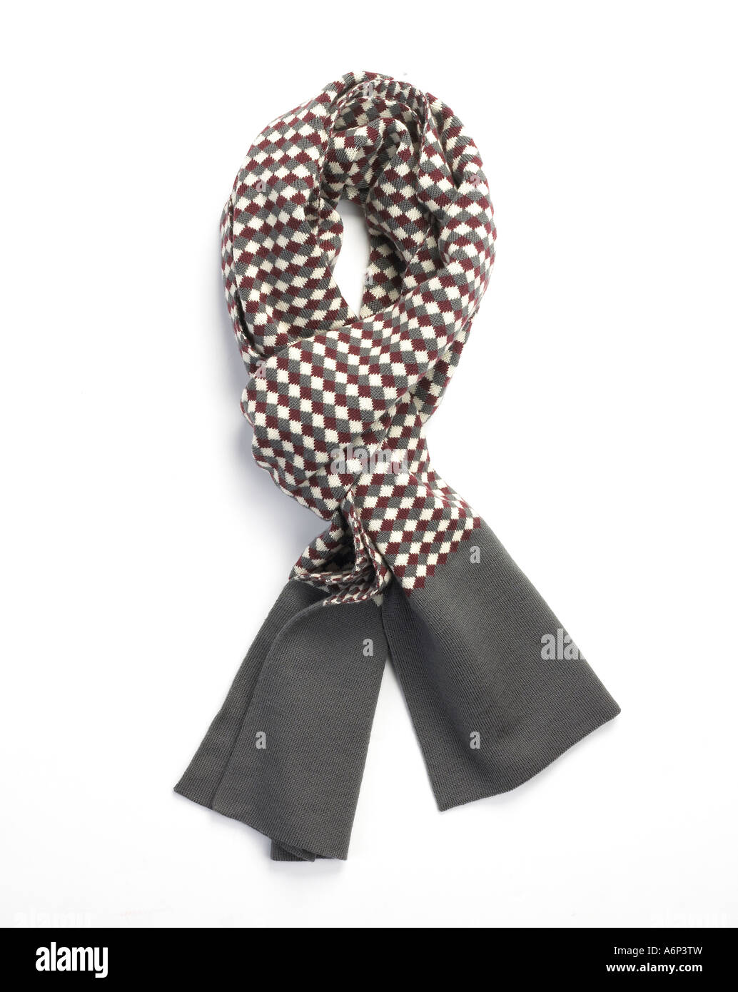 mens scarf stylishly tied - Stock Image