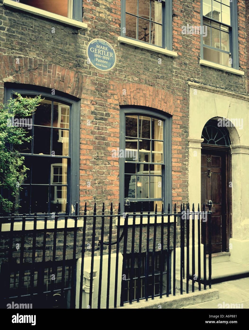 House of Mark Gertler jewish artist Elder street east end london