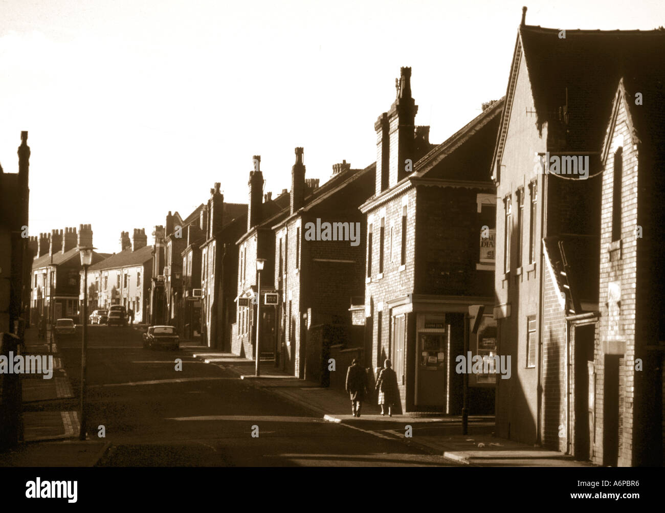 One Of The Many Back Streets Of Stoke-On-Trent. - Stock Image