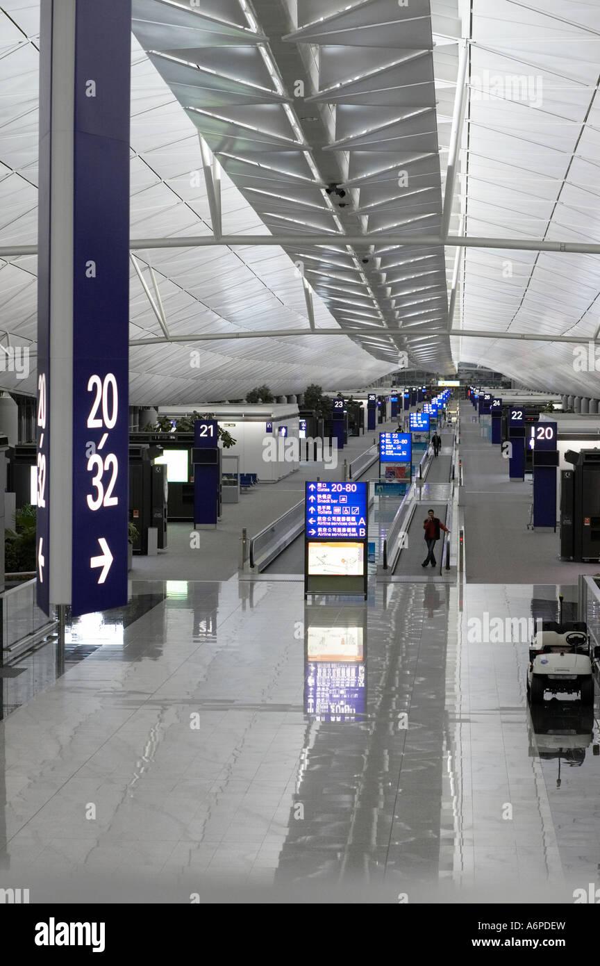 Chek Lap kok airport in Hong Kong Stock Photo