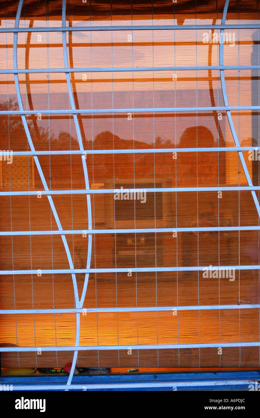 Asb77452 architectural design of steel grill for safety for a modern house in bangalore karnataka india