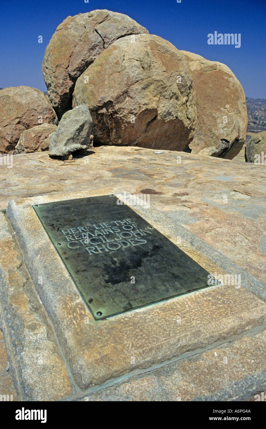 Grave of Cecil John Rhodes Matopos Zimbabwe Africa - Stock Image