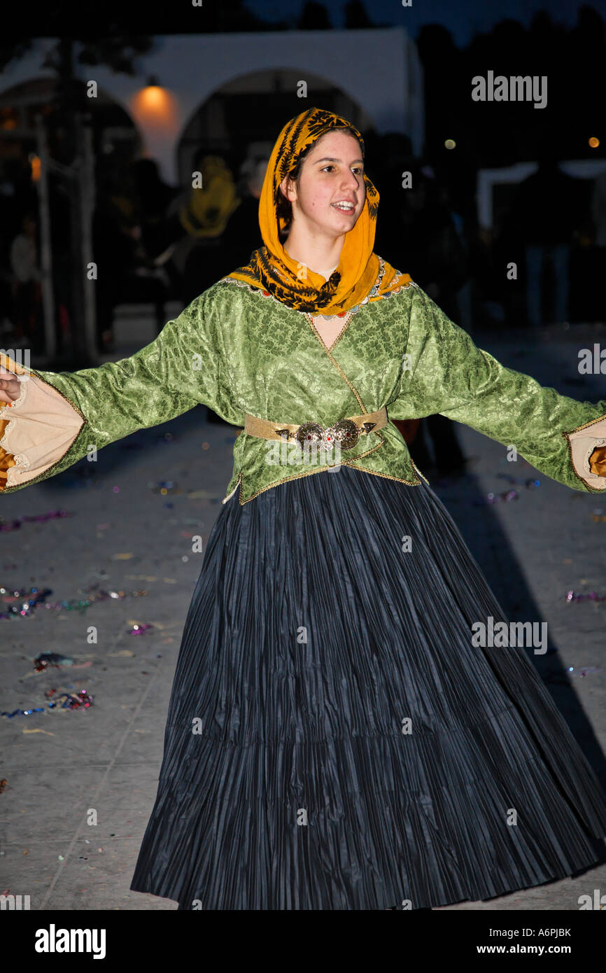 d0713b06c Lady InTraditional Clothes At The Clean Monday Aprokreas Skyrian Festival  Skyros Greek Islands Greece Hellas -