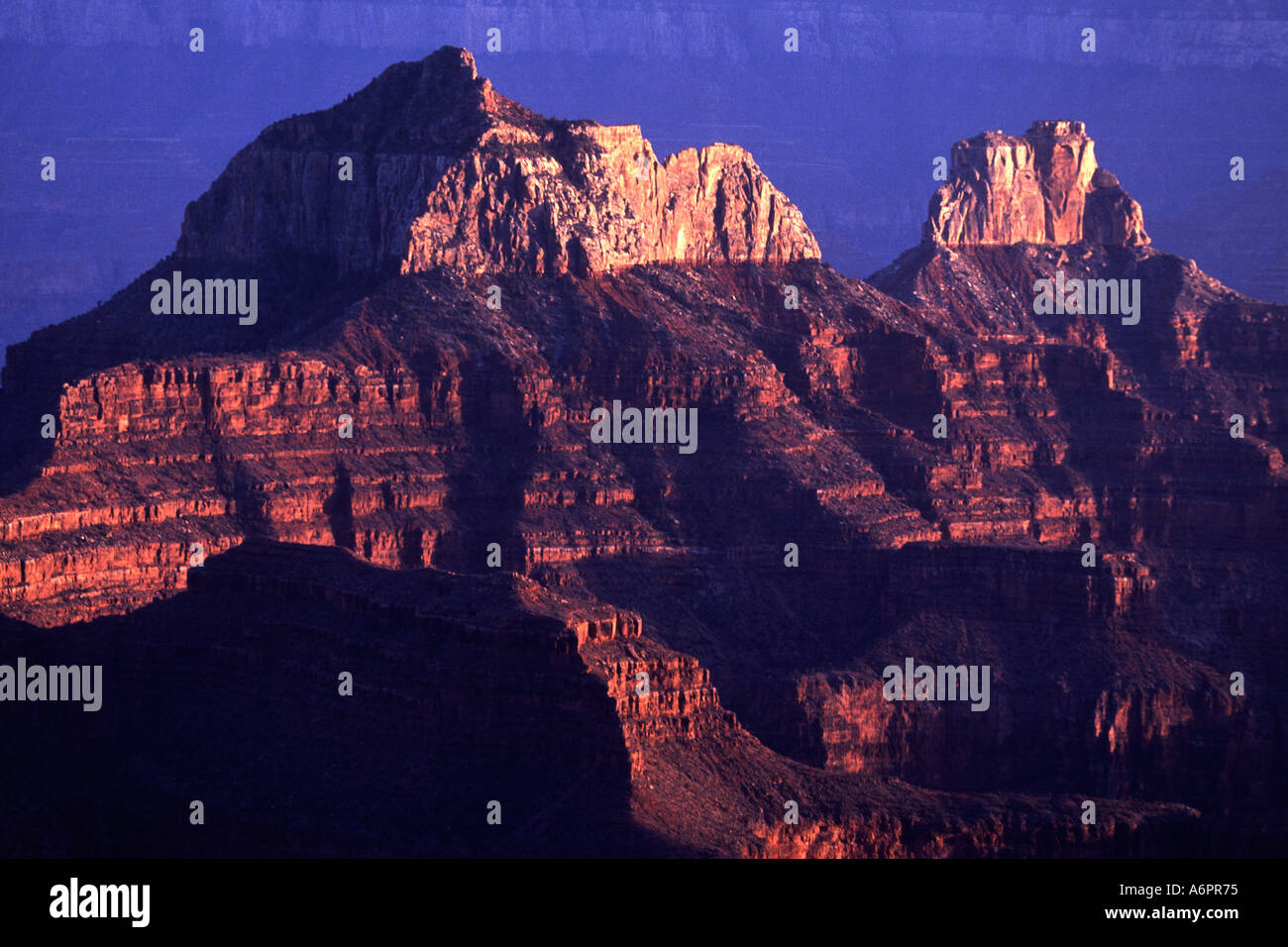 Sunset, North Grand Canyon,  Arizona USA - Stock Image