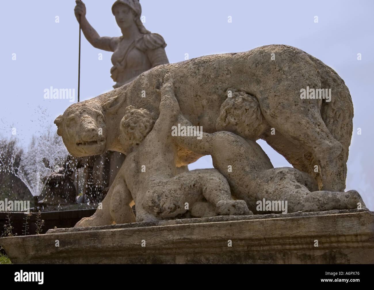 Statue of Romulus Remus - Stock Image