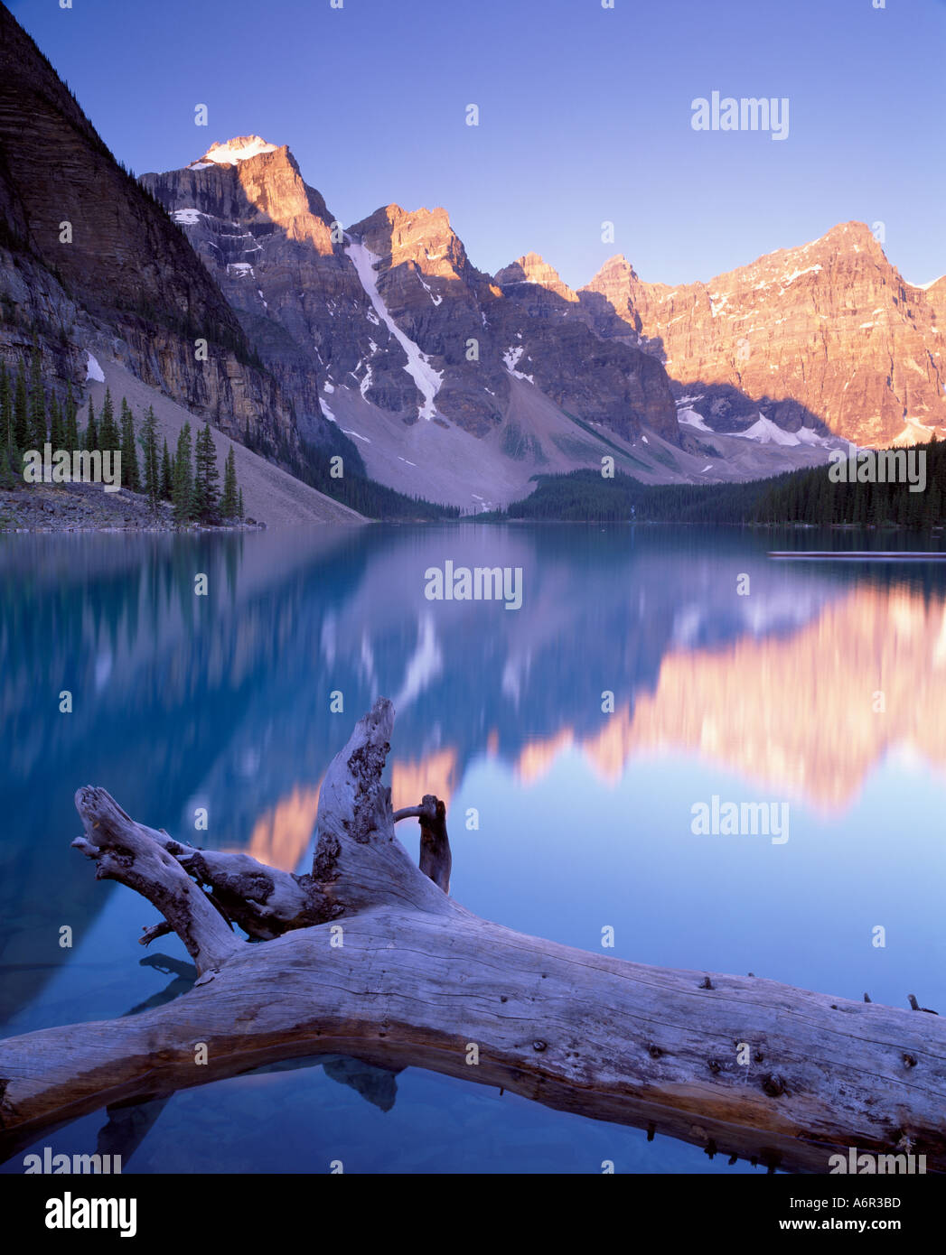 Moraine Lake Banff National Park Canadian Rockies - Stock Image