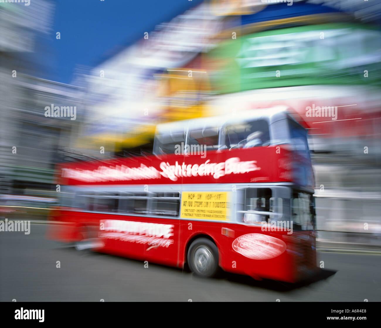 London Bus Picadilly Circus London - Stock Image
