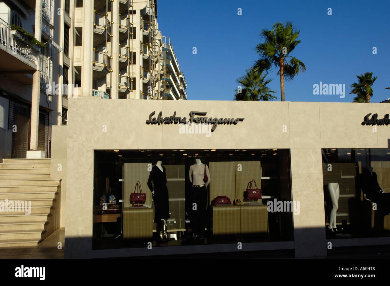 Cannes, Ferragamo Store - Stock Image