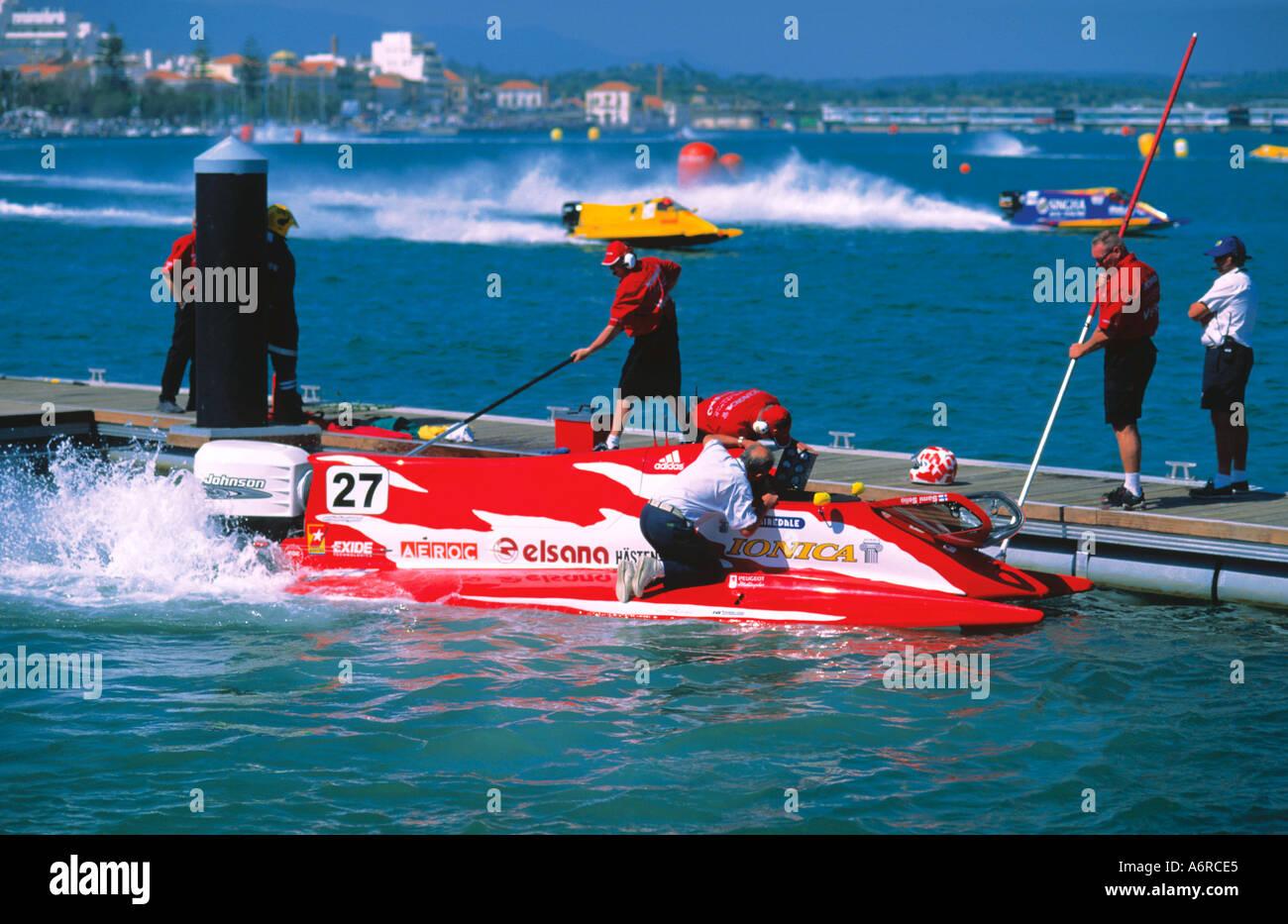 Speedboat Formule One Portimao Algarve Portugal - Stock Image