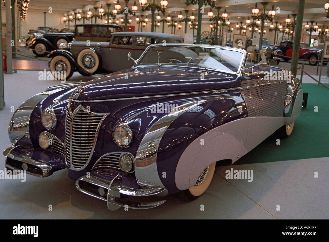 vintage cars exhibited in schlumpf automobile national museum in stock photo 6649510 alamy. Black Bedroom Furniture Sets. Home Design Ideas