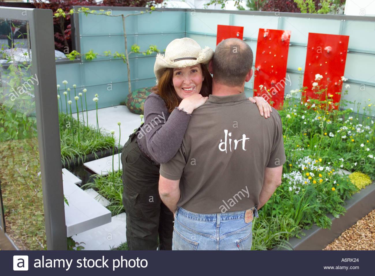 Jennifer Hirsch, Garden Designer in the 'Peace is Special' Chic Garden at RHS Chelsea Flower Show 2005 - Stock Image