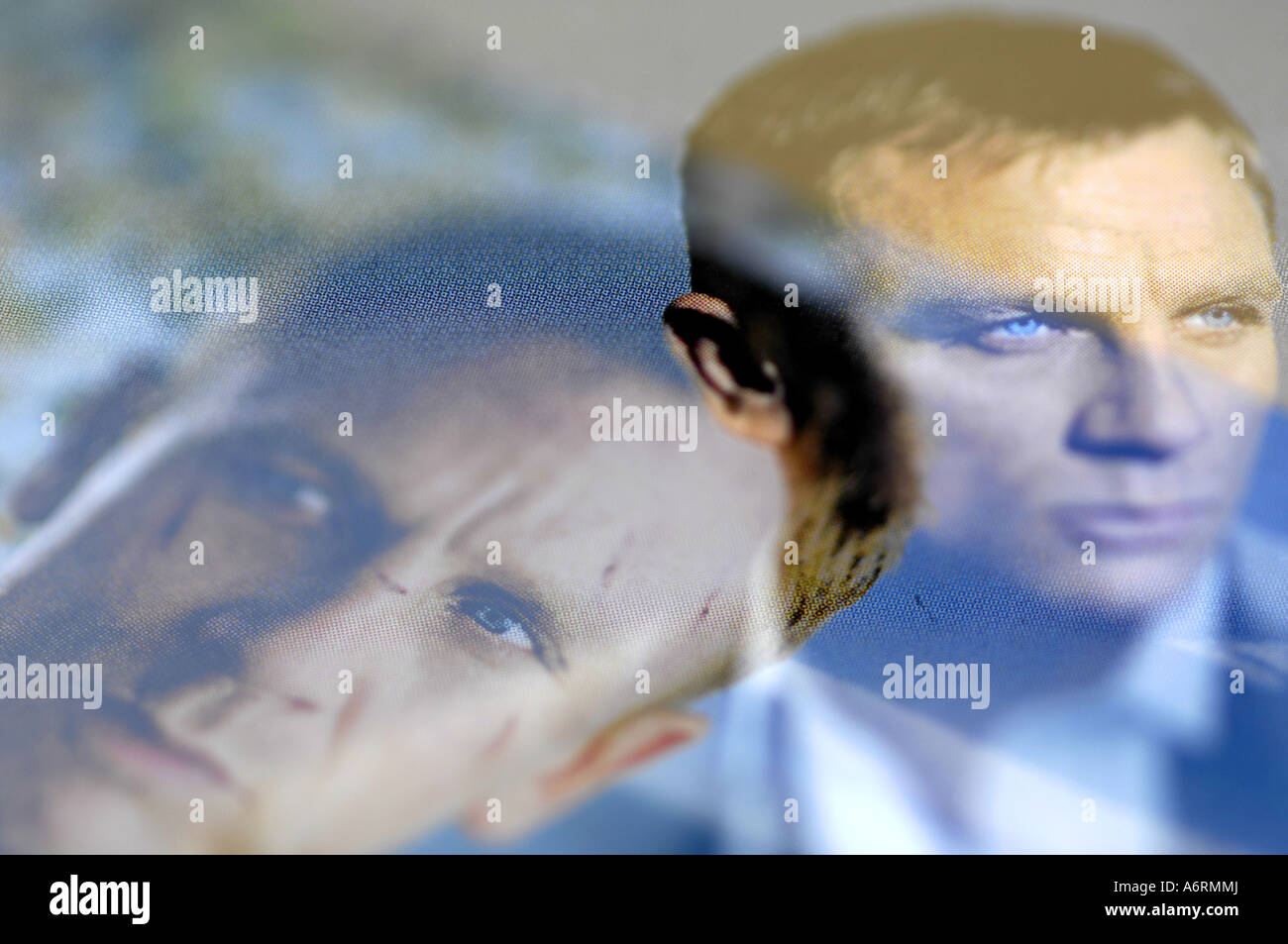 daniel craig james bond composite digital actor ian flemings oo7 007 spy assassin british secret service man male - Stock Image