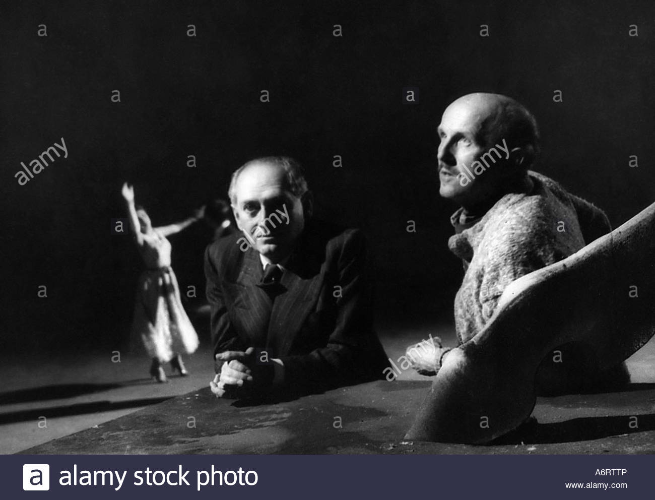 Pressburger, Emeric, 5.12.1902 - 5.2.1988, Hungarian director, with Michael Powell, (1905- 1990), during making - Stock Image