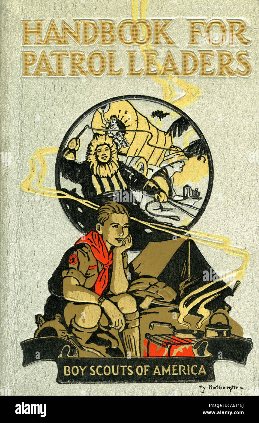 books, William Hillcourt: 'Handbook for patrol leaders', New York 1929, 16th printing 1946, Boy Scouts of - Stock Image
