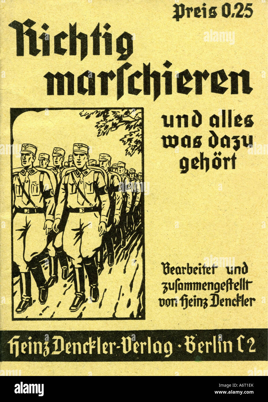 national socialism/nazism, organisations, Sturmabteilungen (SA), guide for correct marching, by Heinz Denckler, - Stock Image