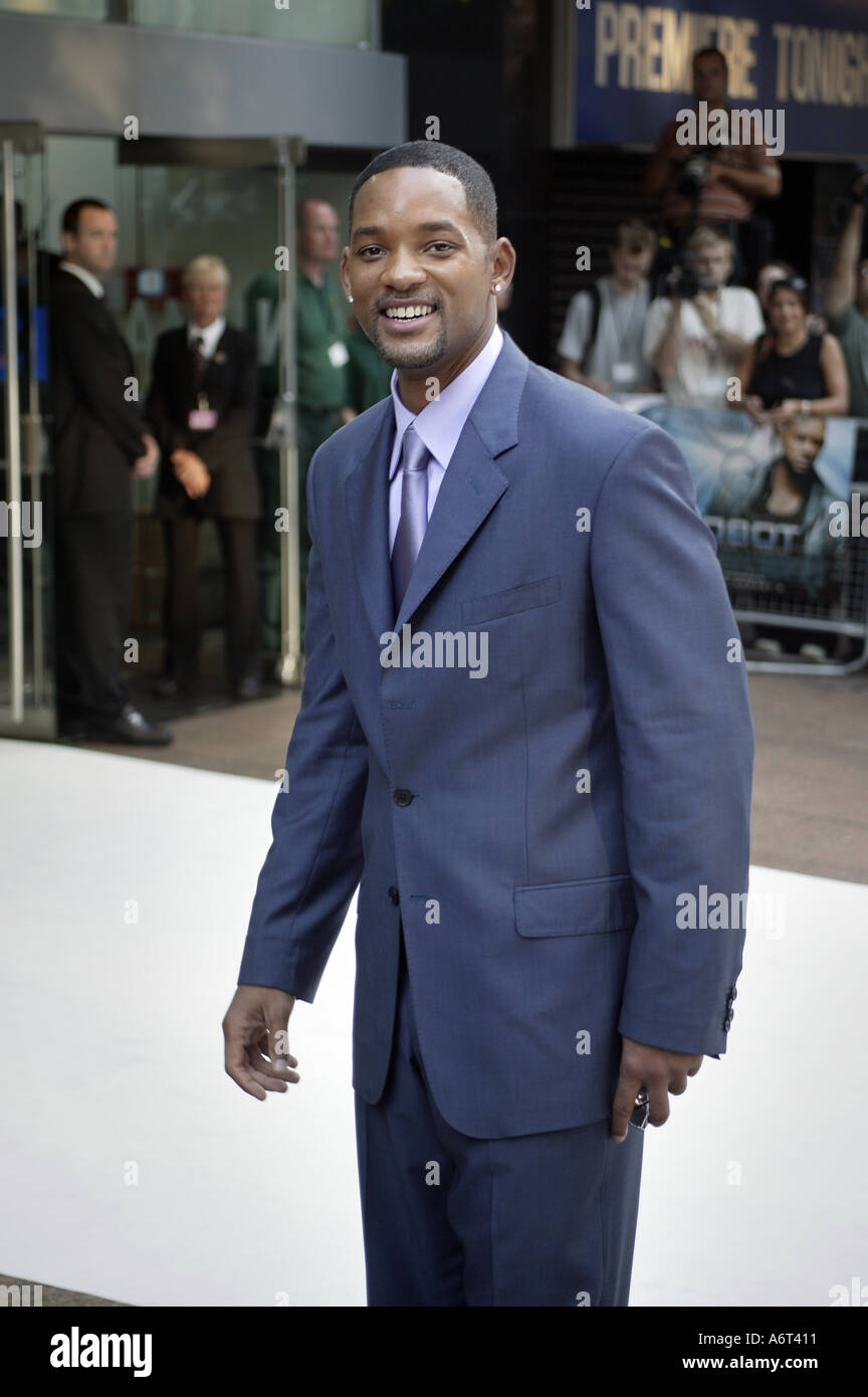 Will Smith at Leicester Square prior the premier of his film I Robots at the Odeon Cinema - Stock Image