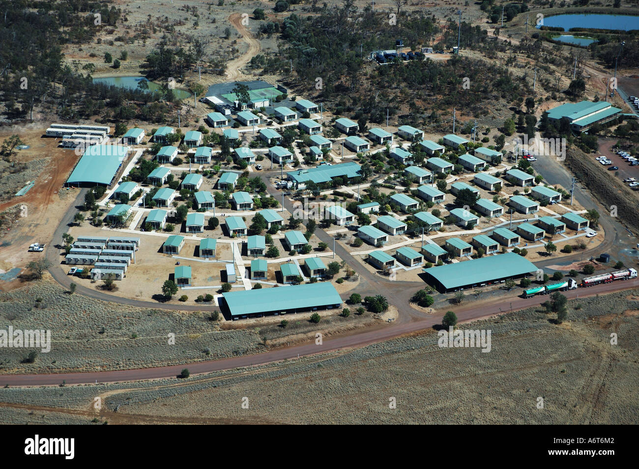 Mining camp accommodation area coal mine Central Queensland