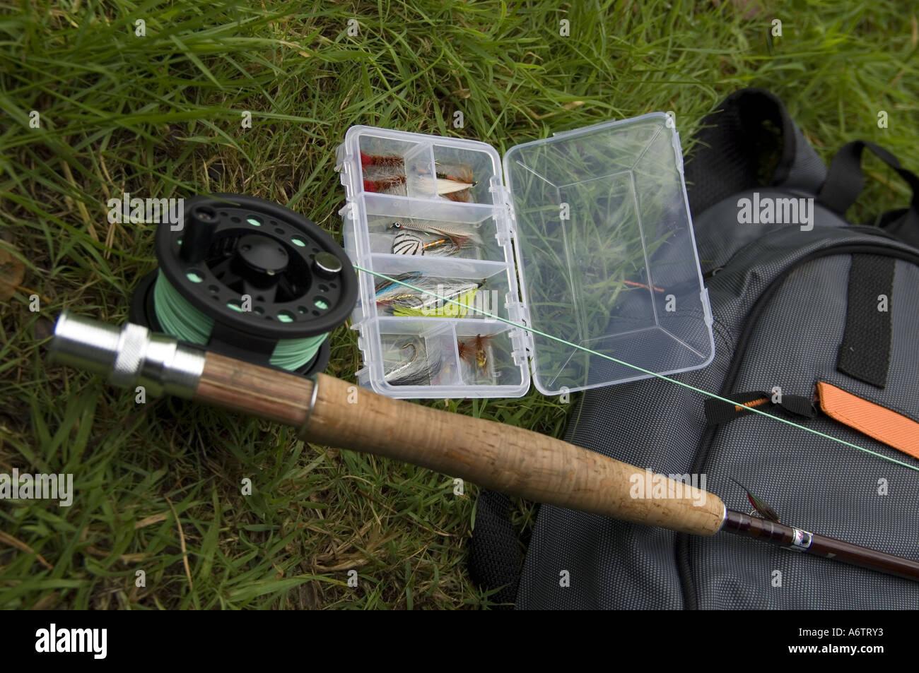 5893844c6 Fly Fishing Rod Reel Bag Stock Photos & Fly Fishing Rod Reel Bag ...