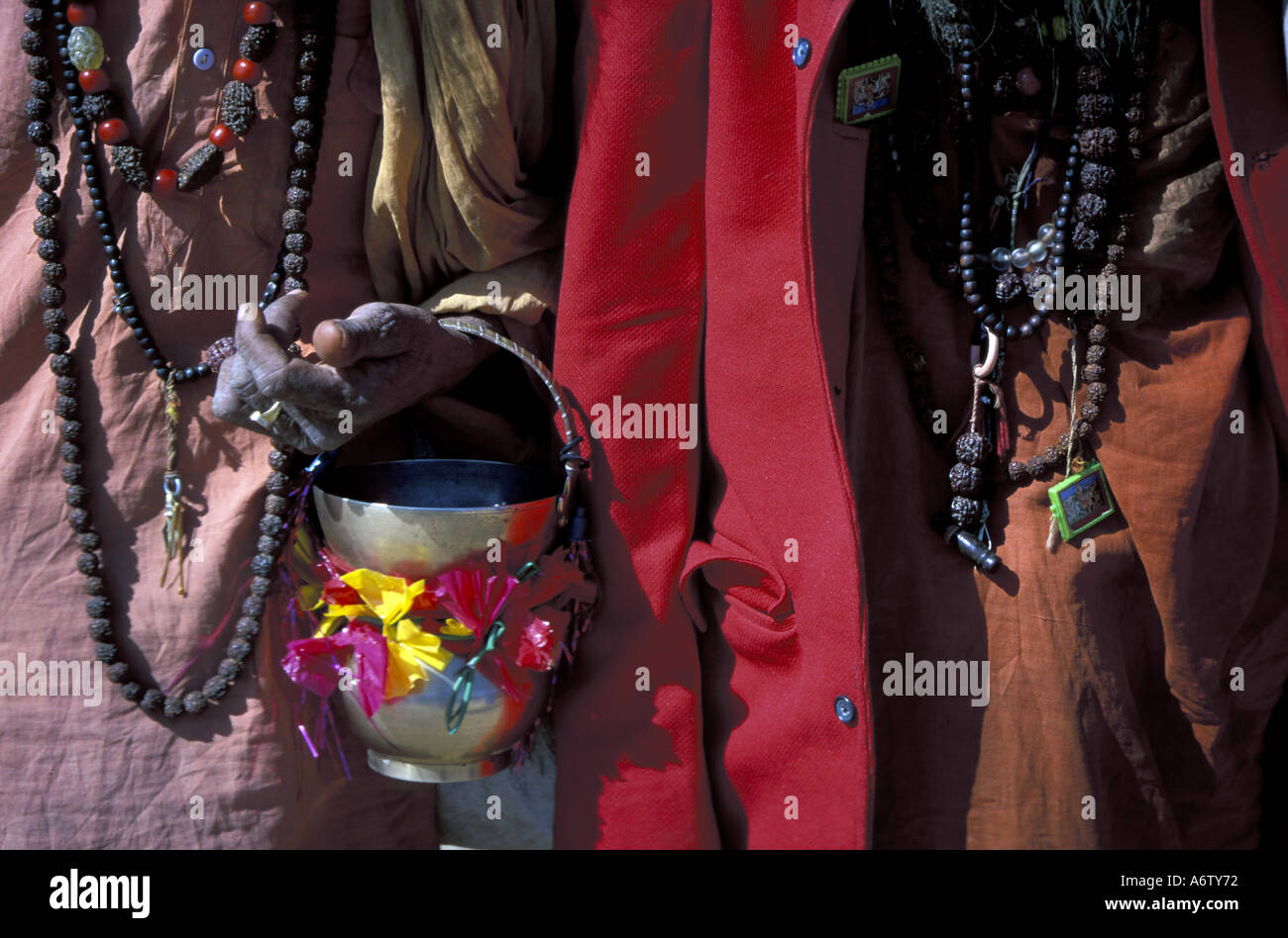 Asia, India. Pushkar Camel Fair, Sadus. - Stock Image