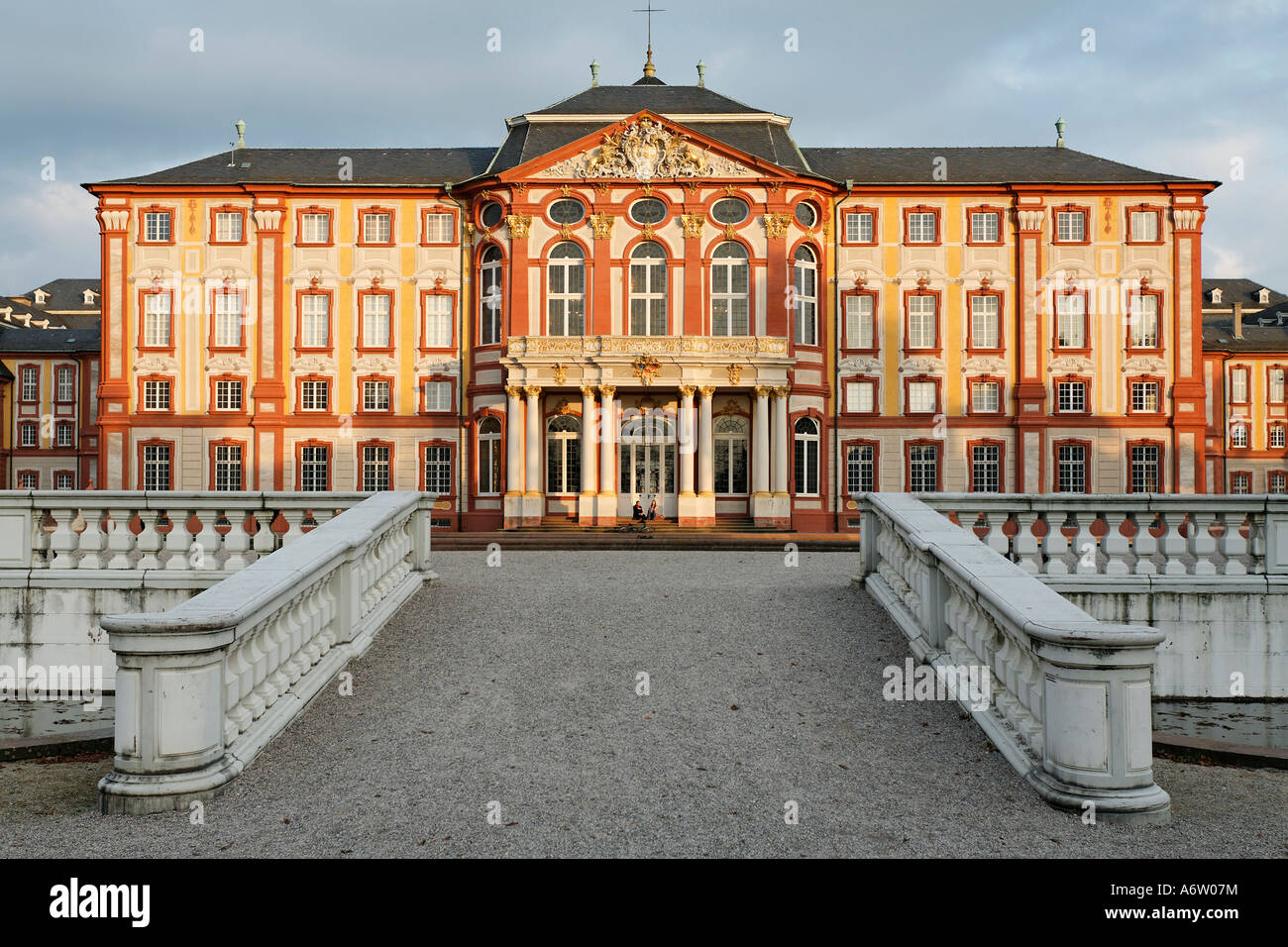 Corps de Logis, garden front, castle Bruchsal, district Karlsruhe, Baden-Wuerttemberg, Germany Stock Photo