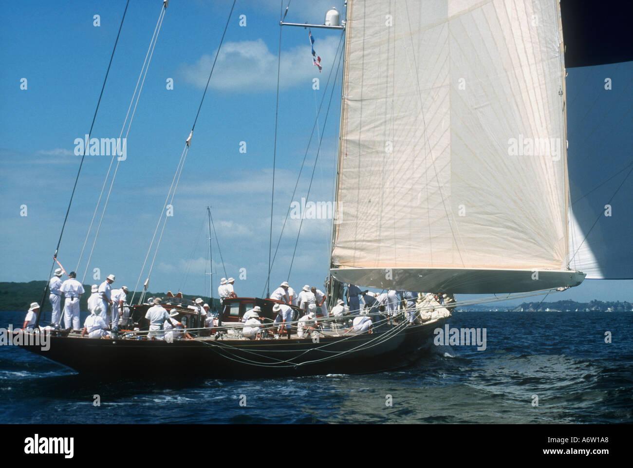 1933 Camper and Nicholson J Class Velsheda Logan Classic regatta 2000 Auckland New Zealand Stock Photo