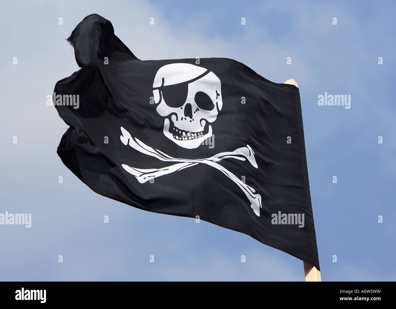 Skull and crossbones - pirate flag, Germany, Europe - Stock Image