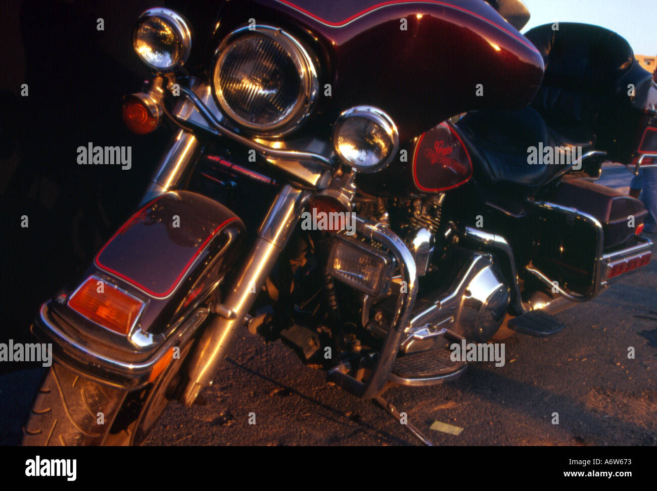 motorcycle model Harley Davidson - Stock Image