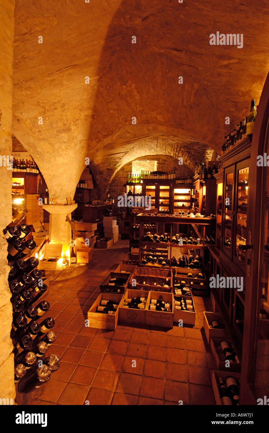 Prague, Restaurant Le Terroir - Stock Image