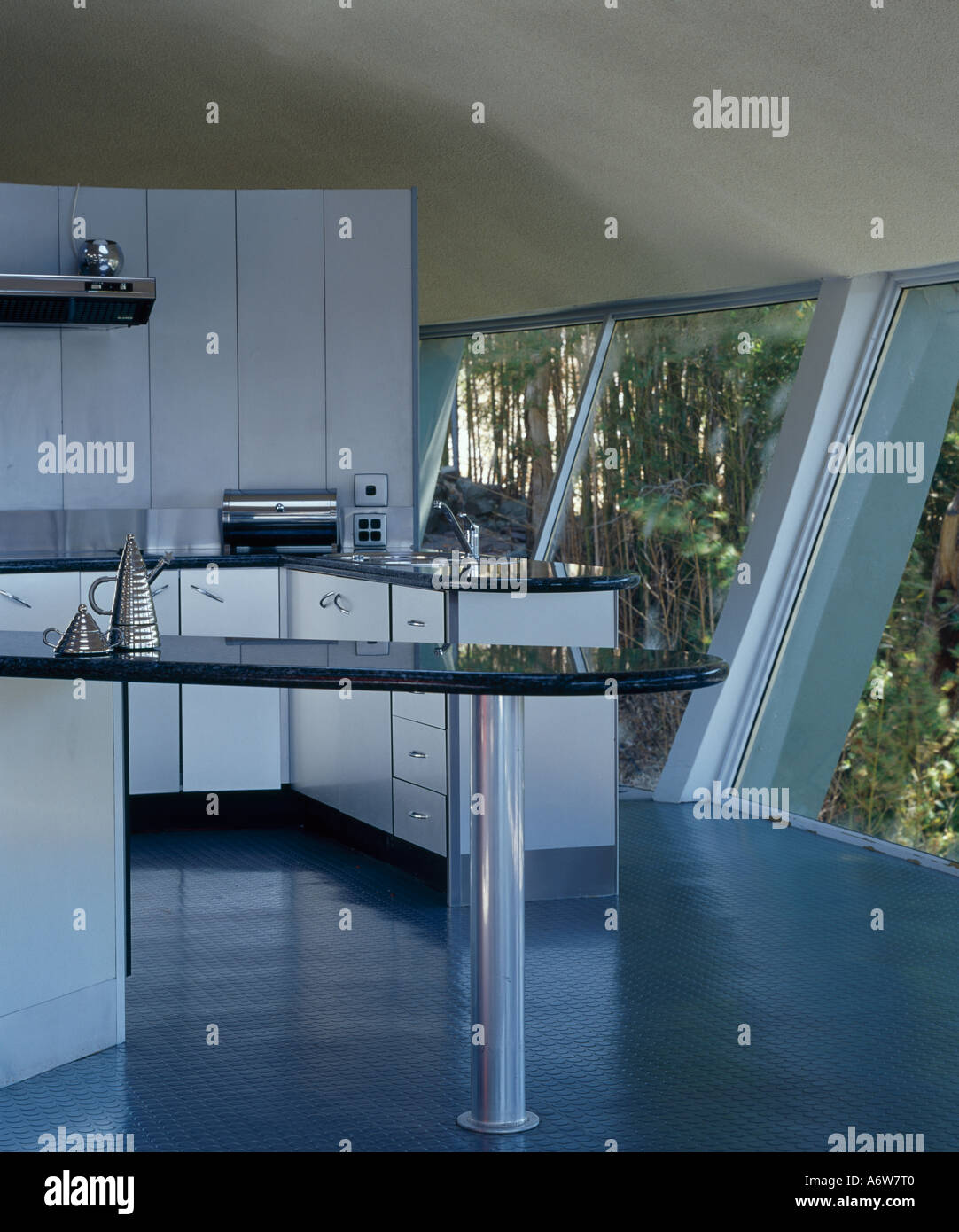 Spaceship House, near Sydney, New South Wales, 1963. Kitchen Stock ...