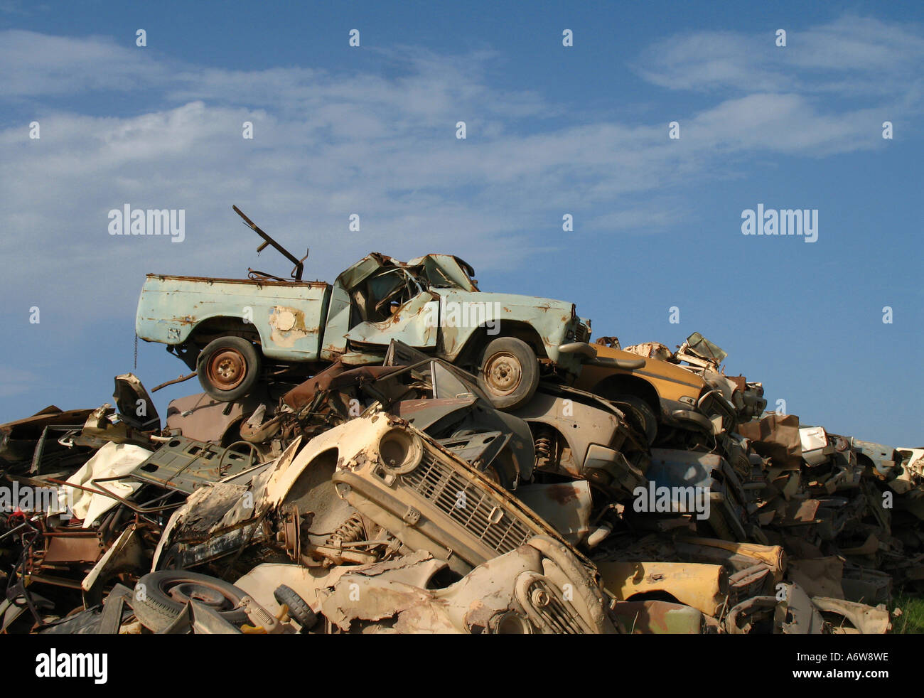 Stock photo of a car dump with wrecked cars Stock Photo: 6658973 - Alamy