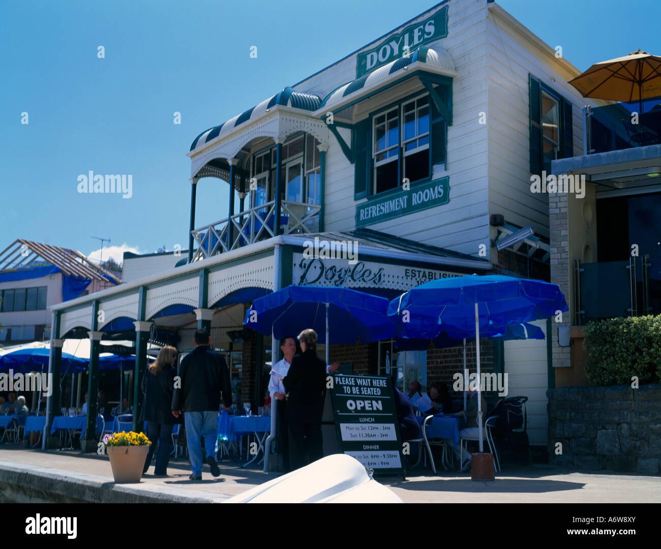 Sydney NSW Australia Watsons Bay Doyles Fish Restaurant - Stock Image