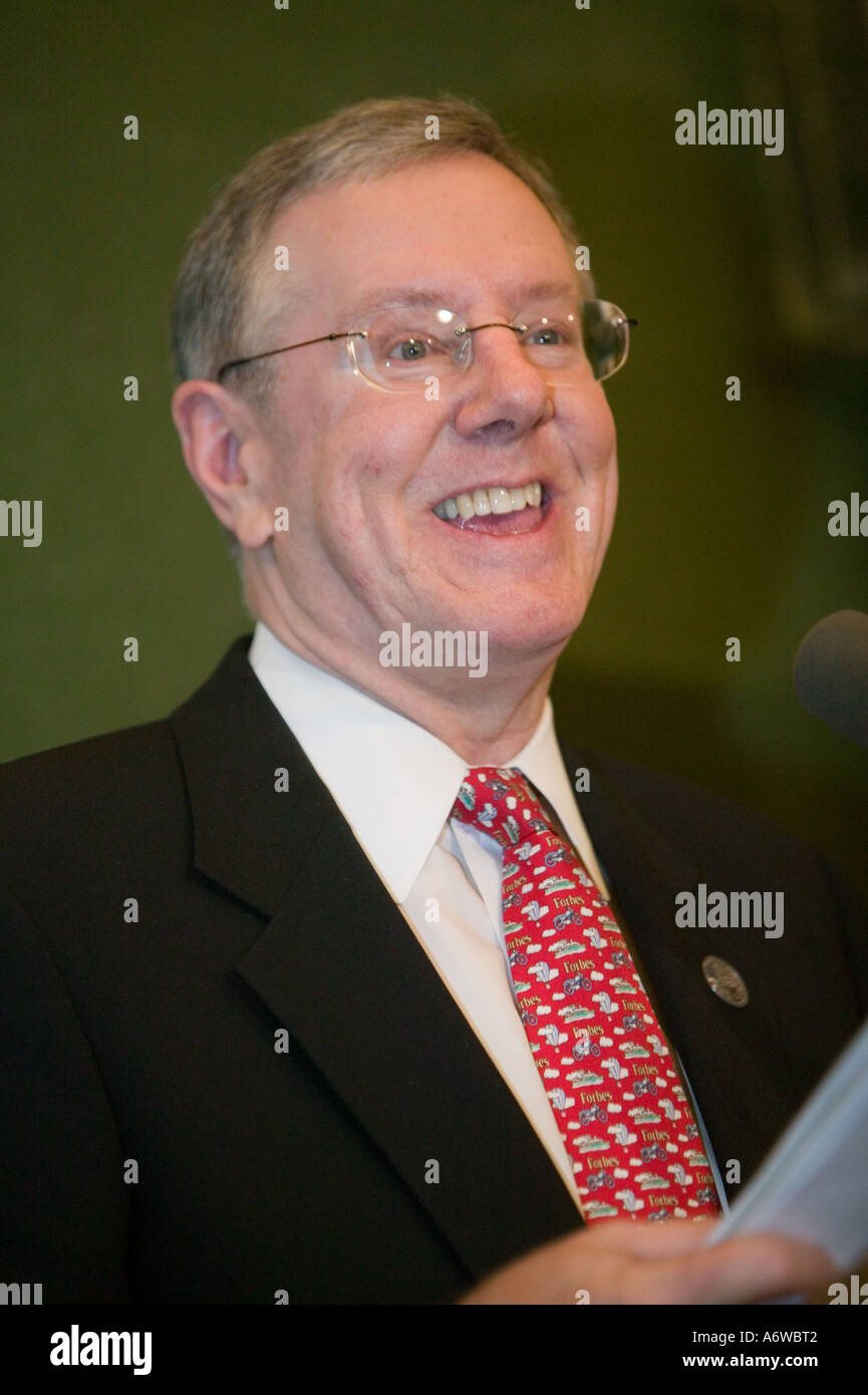 Steve Forbes CEO and Editor in Chief of Forbes Magazine in New York City USA March 2006 - Stock Image